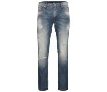 Washed-Regular fit Jeans blau
