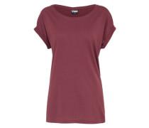 T-Shirt 'Extended Shoulder' burgunder
