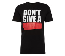 T-Shirt 'graphic Tee' rot / schwarz / weiß