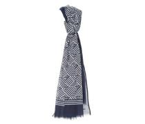 Schal 'Ababsi scarf' dunkelblau / weiß