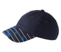 Cap mit Schild-Print nachtblau / royalblau / weiß
