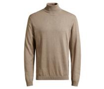 Klassischer Seidenmischfaser-Pullover beige