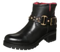 Cowboy Boots mit Nietenschlaufe schwarz