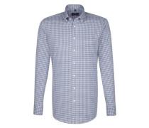 City-Hemd ' Modern ' blau / weiß