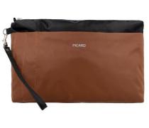 Täschchen 'Switchbag' 26 cm braun / schwarz