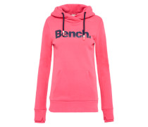 Sweatshirt 'her. Corp Print' dunkelblau / pink