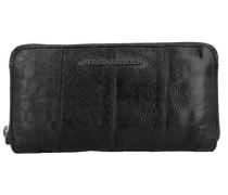 Wildly Geldbörse Leder 19 cm schwarz