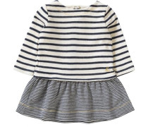 Baby Kleid marine / naturweiß
