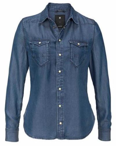 Jeansbluse 'Tacoma' blau