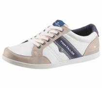 Sneaker nude / nachtblau / weiß