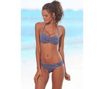 Bügel-Bandeau-Bikini blau / rosa