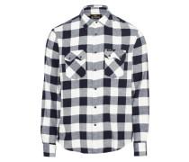 Hemd ' Rider Shirt' schwarz / weiß