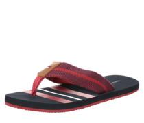 Zehentrenner mit Textilband rot