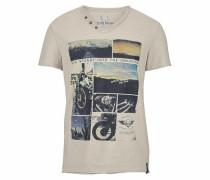 T-Shirt 'Slub Yarn' ecru / mischfarben