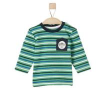 Geringeltes Langarmshirt royalblau / dunkelblau / grün / weiß