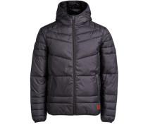 Klassische Wattierte Jacke grau