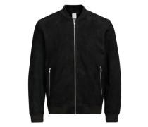 Wildleder-Jacke schwarz