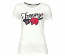 Rundhalsshirt 'Tommy Panter Tee' blau / rot / schwarz / wollweiß