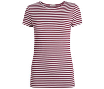 T-Shirt Gestreiftes rot