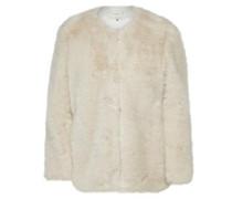 Jacke aus Kunstpelz beige