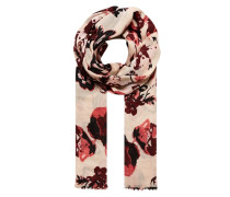 Schal mit großformatigem Blütendruck pink / rot