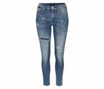 Skinny-fit-Jeans 'zackie' blue denim