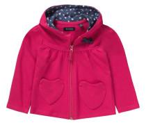 Baby Sweatjacke für Mädchen dunkelblau / pink / weiß