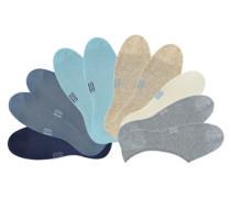Offene Füßlinge (10 Paar) beige / blau / grau