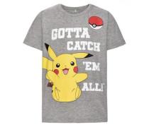 Oberteil mit kurzen Ärmeln Pokemon- grau