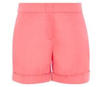 Shorts mit Saumaufschlag pink