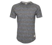 T-Shirt 'Lumber' blau / schwarz