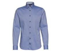 Hemd mit feinem Muster 'Hanson' blau