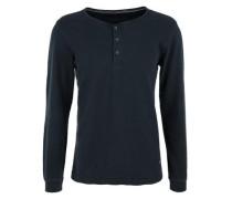 Henleyshirt aus Jaquard nachtblau