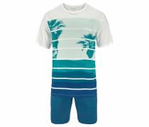 Pyjama kurz Shorty mit Print