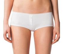 Panty aus Doppelripp-Jersey weiß