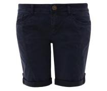 Smart Short: Garment Dye-Bermuda dunkelblau