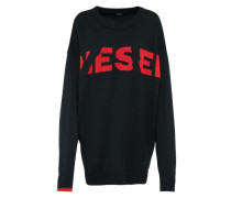 Oversized Pullover 'k-Logox' rot / schwarz