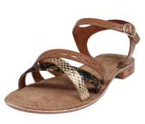 Sandale 'Carla' braun / gold / schwarz