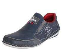 Slipper taubenblau / rot / weiß