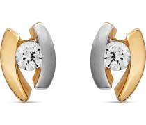 Ohrringe gold / silber / weiß