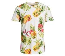 T-Shirt Bedrucktes mischfarben / weiß