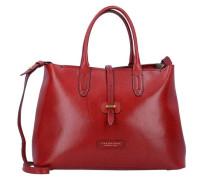 Dalston Shopper Tasche Leder 36 cm rot