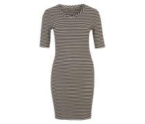 Jerseykleid mit Rippstruktur 'Vmyeng' schwarz / weiß