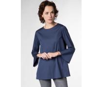 Dreiviertelarm Bluse blau