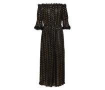 Kleid 'long Polka-Dot' gold / schwarz