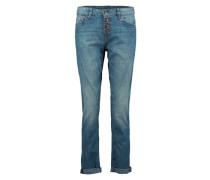 Verwaschene Boyfriend Jeans blau