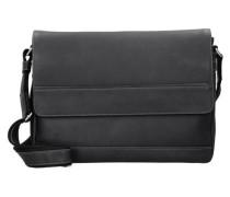 'Do it' Messengerbag Leder 37 cm schwarz