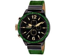 """Chronograph """"silma Uc-02"""" grün / schwarz"""