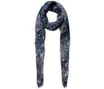 Langer Print-Schal blau / grau