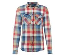 Gemustertes Hemd 'rias' blau / rot / weiß
